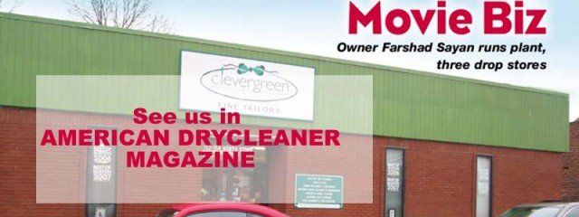 American Dry Cleaner Magazine, Boston's Clevergreen Cleaners talks about the success of it's green business that has attacted the stars of Hollywood